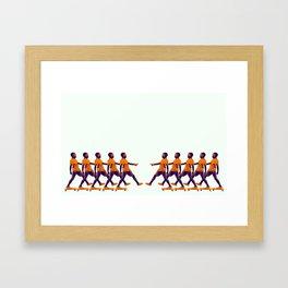 inline  skating Framed Art Print