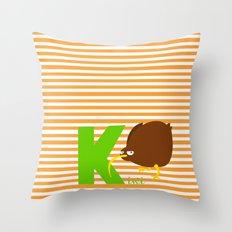 k for kiwi Throw Pillow