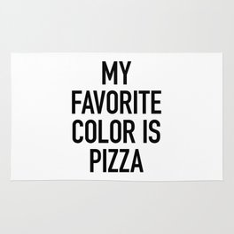 My Favorite Color is Pizza - White Rug