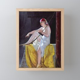 "Luis Ricardo Falero ""Egyptian Woman With Harp"" Framed Mini Art Print"