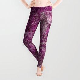 Purple And Burgundy Paint Brush Blots Leggings