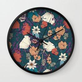 Botanical pattern 008 Wall Clock