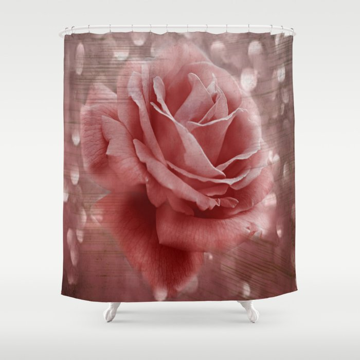 Vintage Dusty Rose Shower Curtain By Judypalkimas
