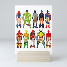 Superhero Butts Mini Art Print