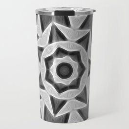 Gray Kaleidoscope Art 22 Travel Mug