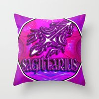 astrology Throw Pillows featuring Sagittarius Zodiac Sign Astrology by CAP Artwork & Design