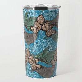 Pine cones pattern Travel Mug