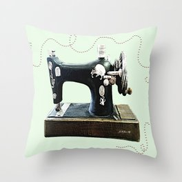 Stitches and Work Throw Pillow