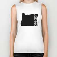 oregon Biker Tanks featuring Oregon by Isabel Moreno-Garcia