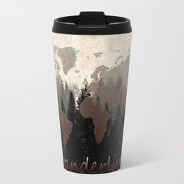 world map wanderlust forest Travel Mug
