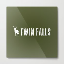 Deer: Twin Falls, Idaho Metal Print