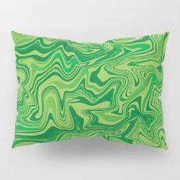 Green Agate Liquid Marble Pillow Sham