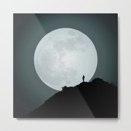 The Photographer and the Moon Metal Print