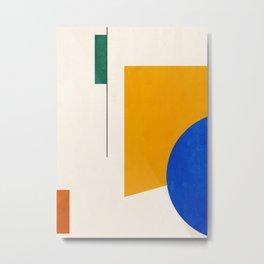 Minimal Geometric Shapes 63 Metal Print