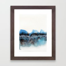 Watercolor abstract landscape 11 Framed Art Print