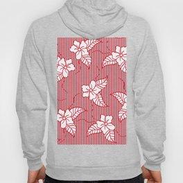 Fashion red flame scarlet white floral hand drawn geometric stripes pattern Hoody