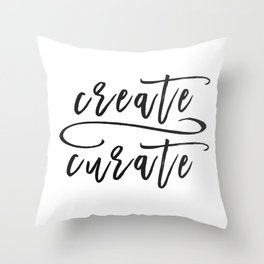 Create / Curate Throw Pillow