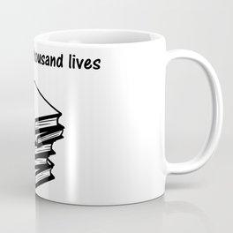 I've lived a thousand lives Books Coffee Mug