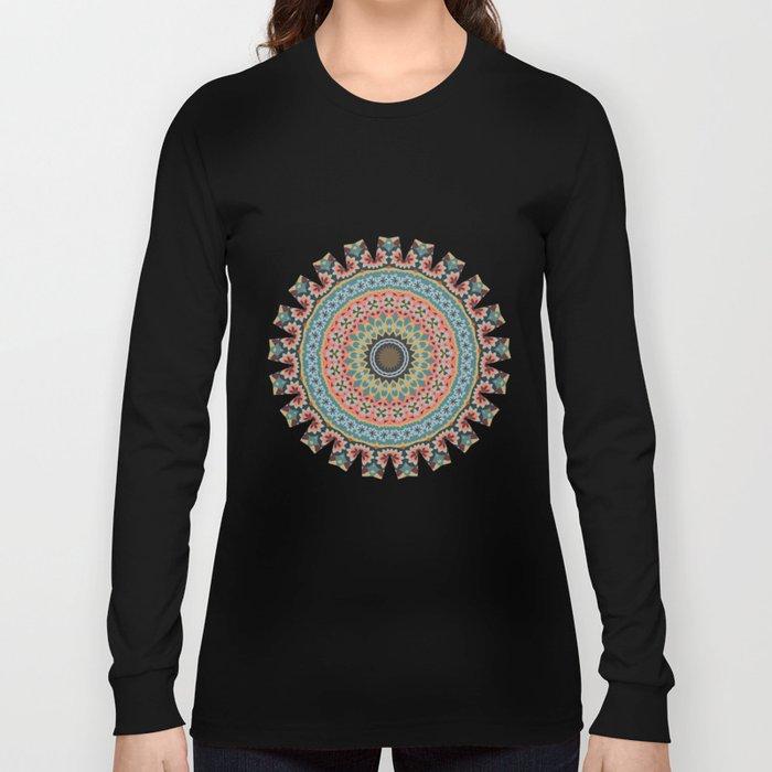 Boho Patchwork-Vintage colors Long Sleeve T-shirt