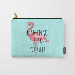 Flamingo Fuck Yourself Carry-All Pouch