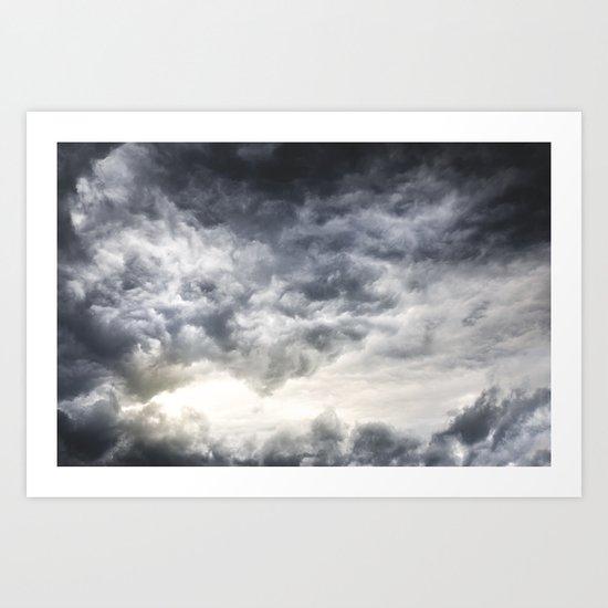 Cloudio di porno Art Print