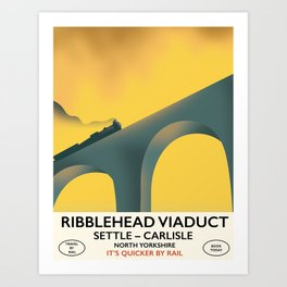 Ribblehead Viaduct Yorkshire Art Print