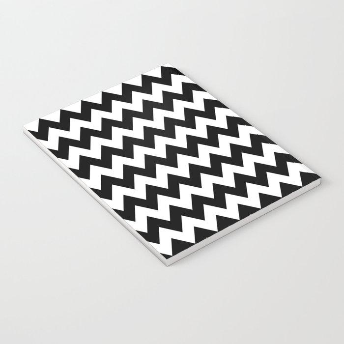 Black White Chevron Notebook
