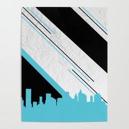 Diagonal Blue Poster