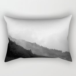 Foggy Mountain Rectangular Pillow
