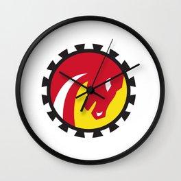 War Horse Head Gear Circle Retro Wall Clock