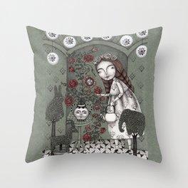 When it Snows Outside (My Secret Garden) Throw Pillow