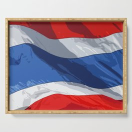 Thailand Fancy Flag Serving Tray