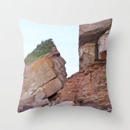 Indian Head Mountain Throw Pillow