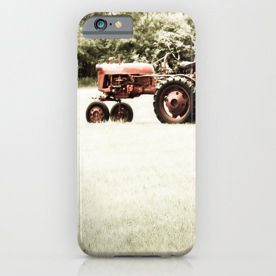 Vintage Red Tractor iPhone & iPod Case