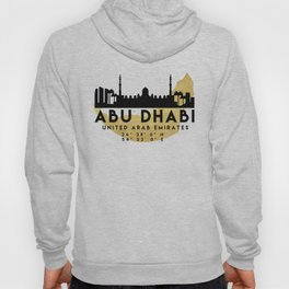 ABU DHABI UNITED ARAB EMIRATES SILHOUETTE SKYLINE MAP ART Hoody