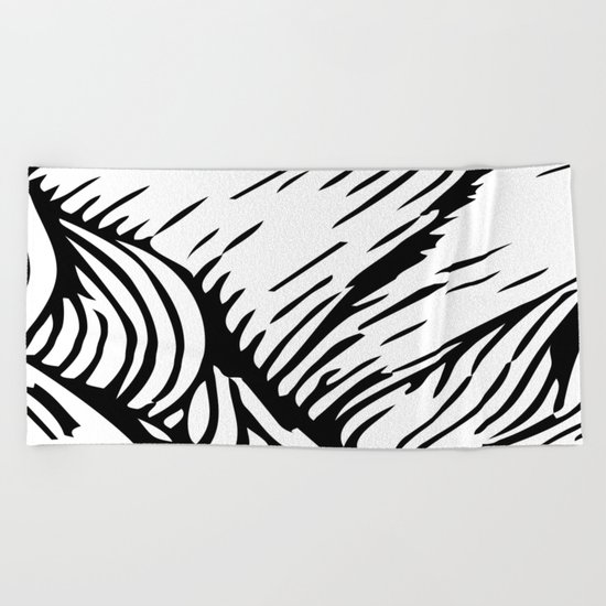 woodcut Beach Towel