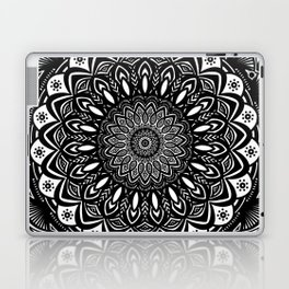 Bold Mandala Black and White Simple Minimal Minimalistic Laptop & iPad Skin