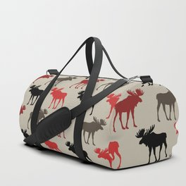 Bull Moose Pattern Duffle Bag