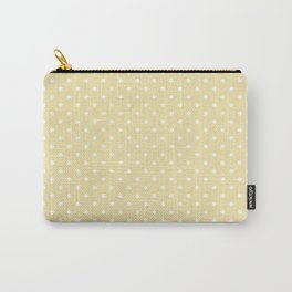 Dots (White/Vanilla) Carry-All Pouch