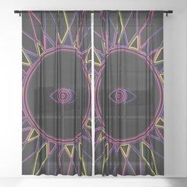 (Neon) Third Eye - Seeing Eye Sheer Curtain