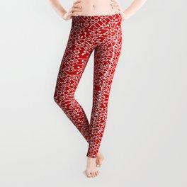 Microchip Pattern (Red) Leggings