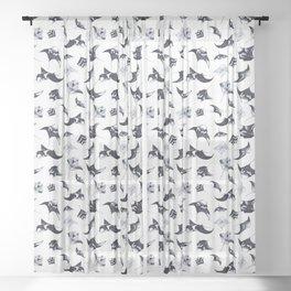 MANTA PATTERN (WHITE) Sheer Curtain