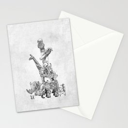 The Clockwork Menagerie (Silver) Stationery Cards