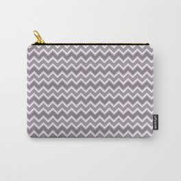 Shades of Purple Chevron Stripes Carry-All Pouch