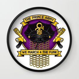 TPA Crest - We March 4 The Funk (Reverend design #2) Wall Clock