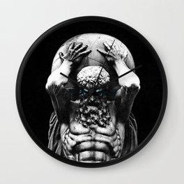 Hercules holding the whole world Wall Clock