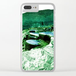 Pulpit Terraces Fantasy Blue Green Clear iPhone Case