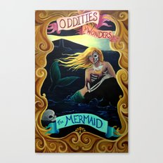 Carnival Sideshow - The Mermaid Canvas Print