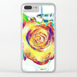 colorful Rose Clear iPhone Case