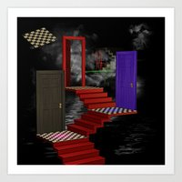 nightmare Art Prints featuring nightmare by Ancello